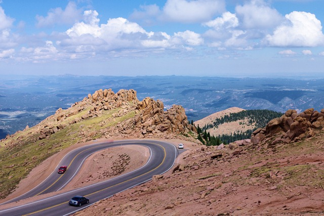 Road to the top of Pikes Peak, Colorado, September 10, 2011