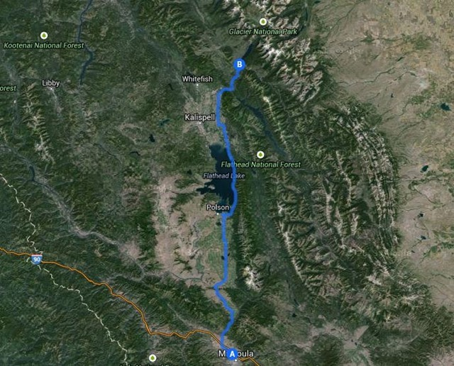 Missoula to Glacier National Park, August 25, 2014