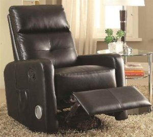 Recliner with Built-In Bluetooth Speakers