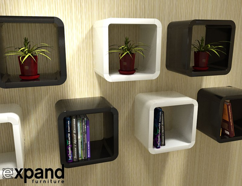 Large Of Cube Wall Shelves