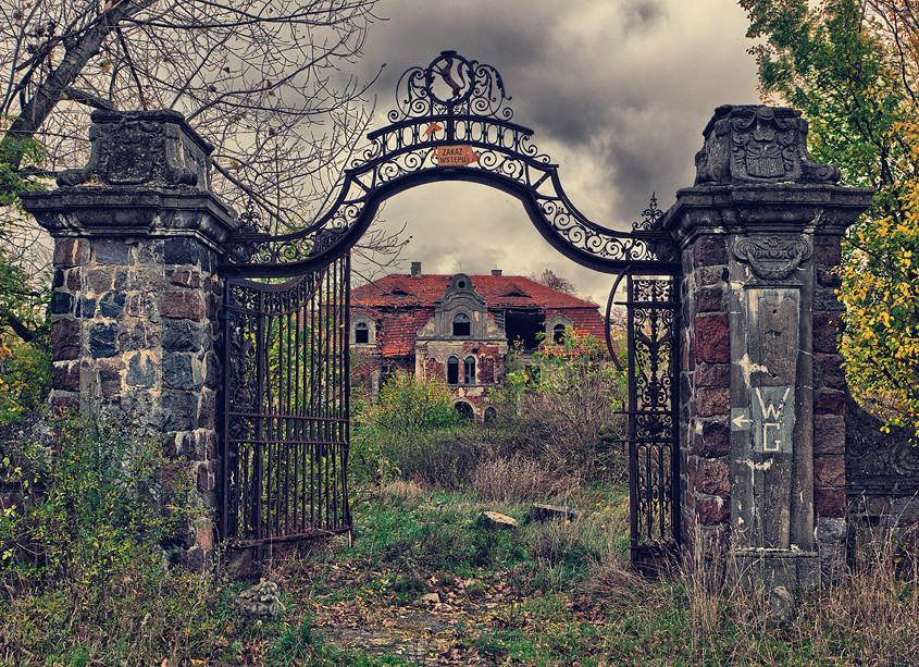 This abandoned palace in Poland has gone without use for decades. (Photo: Lucas Malkiewicz)