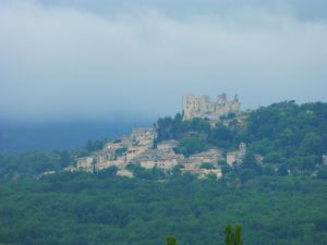 The hill town of Lacoste in the Luberon