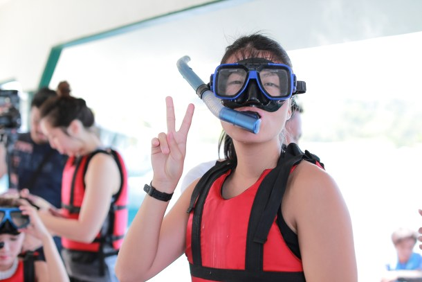 TADA ALL GEARED UP AND READY FOR MY FIRST EVER SNORKELING EXPERIENCE!