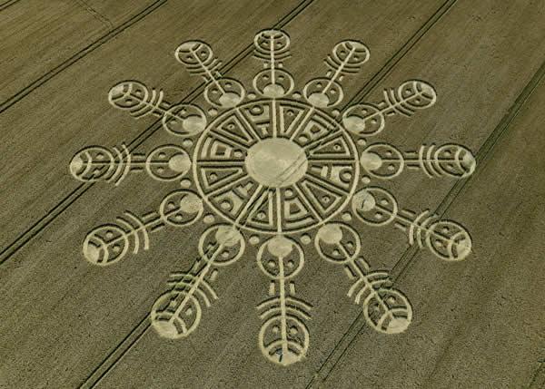 Crop circle en Wiltshire