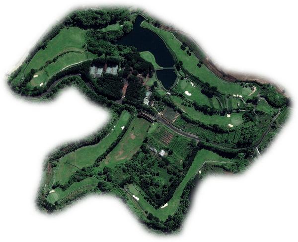 Denah lapangan graha candi golf