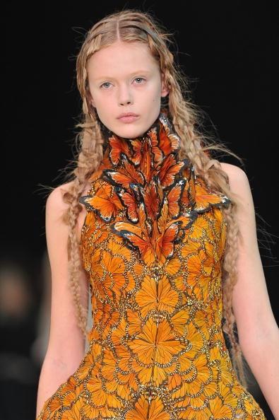 Butterfly Dress Closeup - Alexander McQueen by Sarah Burton SS11 on exshoesme.com