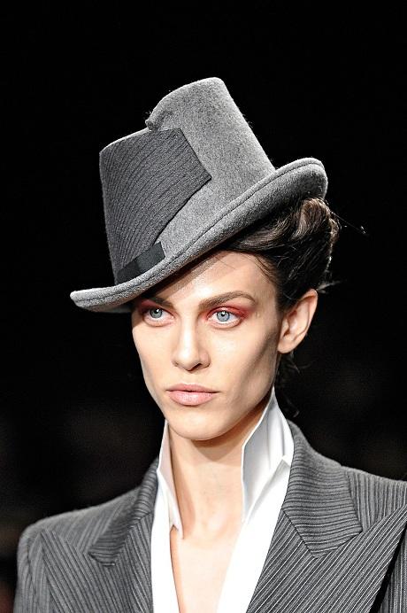 Donna Karan FW12 Grey Tilted Hat on Exshoesme.com