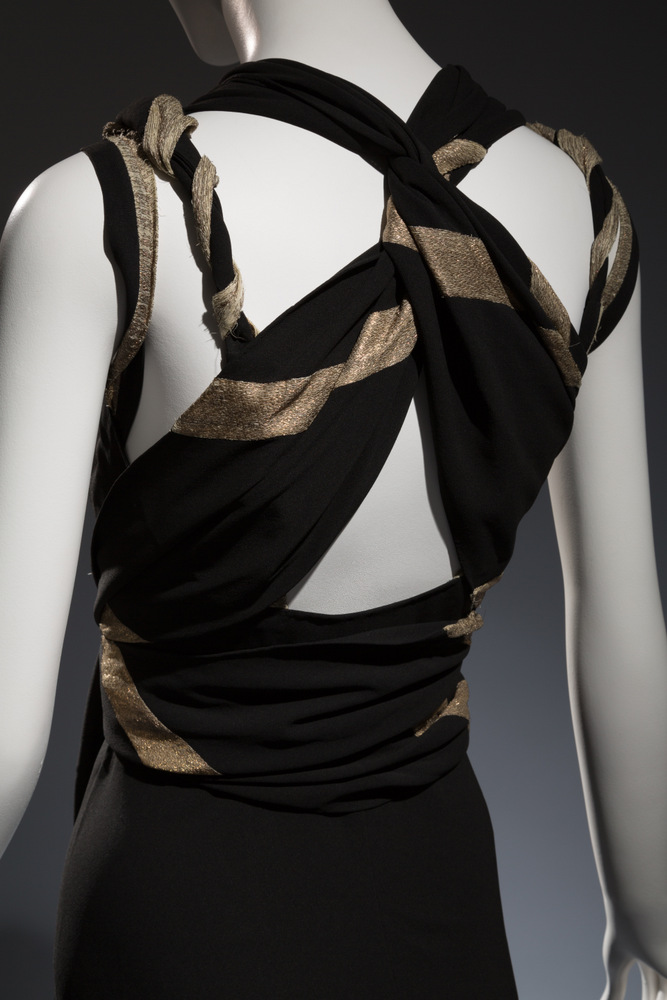 Madeleine Vionnet Gown Black crepe, lame Circa 1937, France Collection of Beverley Birks