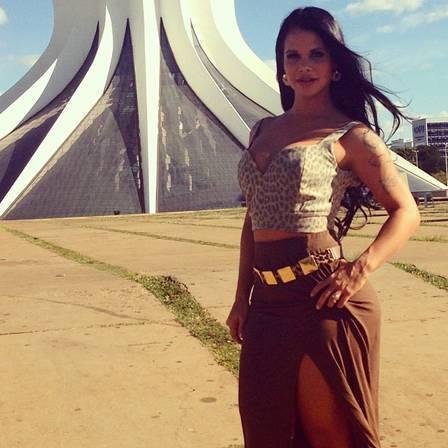 Milena Teixeira em Brasília: ela chegou lá