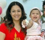 Jyothika with little Diya -  Diya's first birthday