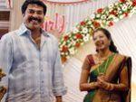 Mammootty at Gopika and Ajilesh Wedding Reception