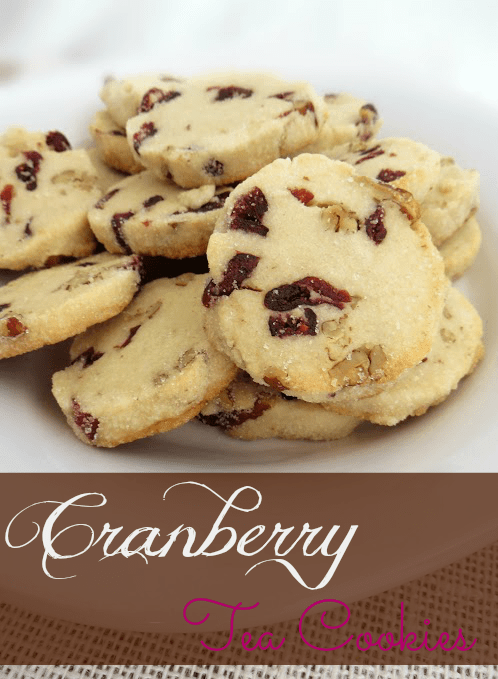 Cranberry Tea Cookies - Tales of a Ranting Ginger