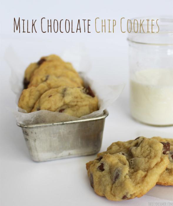 Milk Chocolate Chip Cookies | The DIY Dreamer