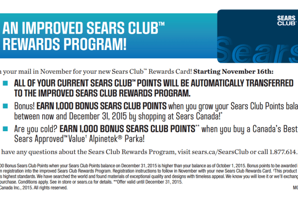Exciting News About The Sears Club Rewards Program You Want To Know