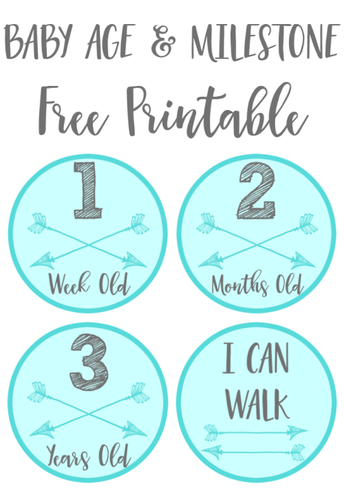 Baby Age and Milestone Free Printable Stickers Boy