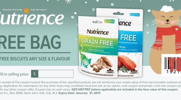 Free Nutrience Grain Free Biscuits For Cats