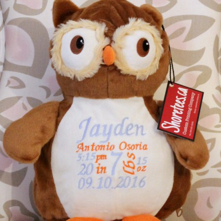 Embroidery Buddies By Shoretees.ca - Owl