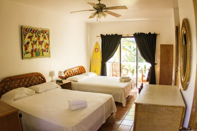 Basic Double room at the eXtreme Hotel on Kite Beach.
