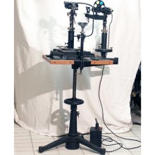 Zeiss Henker Slit Lamp with Csapski Microscope chin rest and Stand
