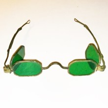 octagonal double green lens spectacles 1830
