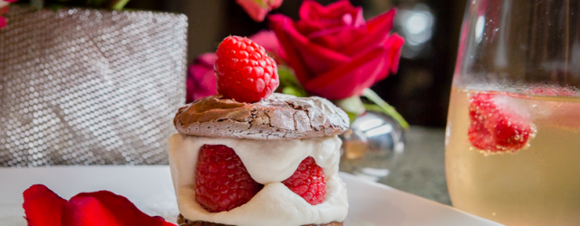 Rasberry and Whipped Cream Chocolate Fudge Cookie Dessert For Valentine's Day