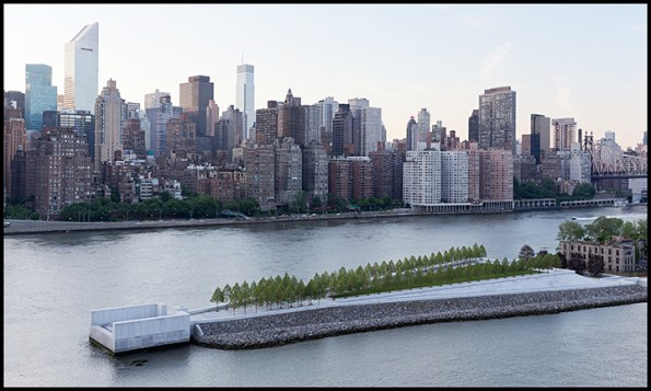 four freedoms park by louis kahn new york