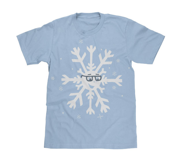 snowflake light blue