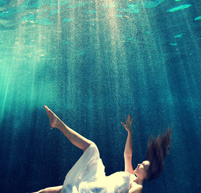 girl trapped underwater