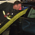 Illegally Parked BMW's Windows Smashed By Boston Firefighters