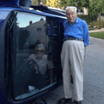 Octogenarian and his wife of 60 years flip over their car and POSE up for photos