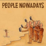 The Camera Phone… People Nowadays – CARTOON