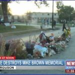 Mike Brown Memorial Destroyed by Fire – Video