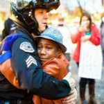 Protester Hugs Police During Portland's 'Ferguson' Protests – PIC
