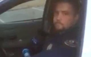 cop sleeping