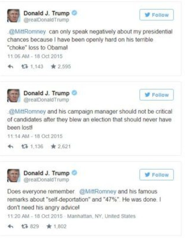 trump hit romney
