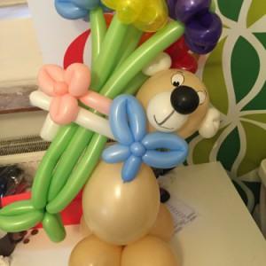 Medvídek z balonků