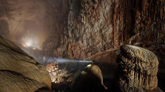 Hang Son Doong grottene i Quang Binh Provinsen i Vietnam