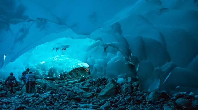 Mendenhall is grotter av Juneau i Alaska