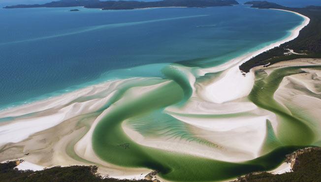 Whitehaven strand, Whitsunday Island i Australia