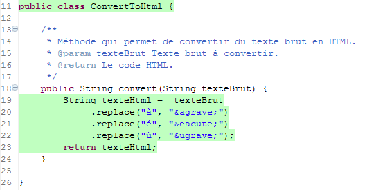 Le code est couvert