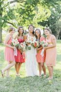 20 Coral Bridesmaid Dresses see more : http://www.fabmood.com/20-coral-bridesmaid-dresses/ Coral bridesmaids