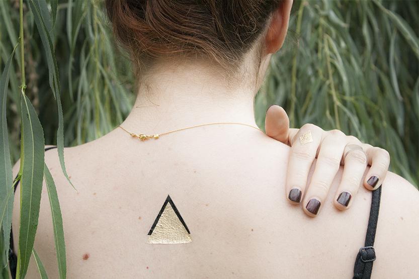 diy gold tattoo fabricadeimaginacion06