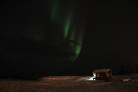 Aurora Borealis in Lake Inari, Lapland, Finland