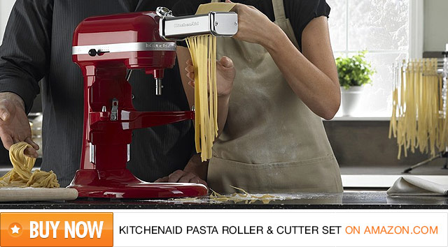 KitchenAid Electric Pasta Roller & Cutter Set on Amazon