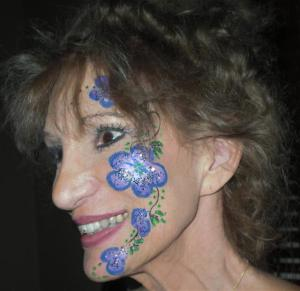 Morning Glory Flowers - Face Painting by Lisa