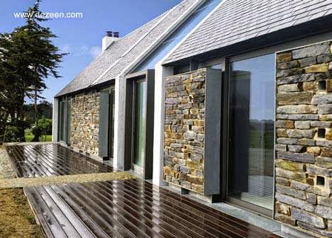 10 fachadas de casas modernas con piedras fachadas de - Fachadas de piedra para casas ...