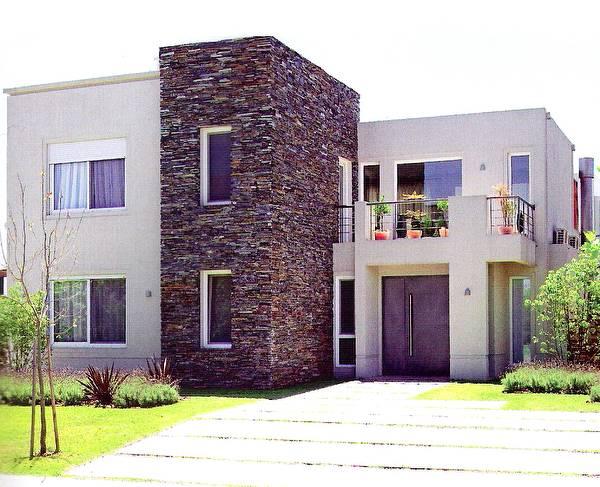 10 fachadas de casas modernas con lajas fachadas de - Fachadas de piedra modernas ...