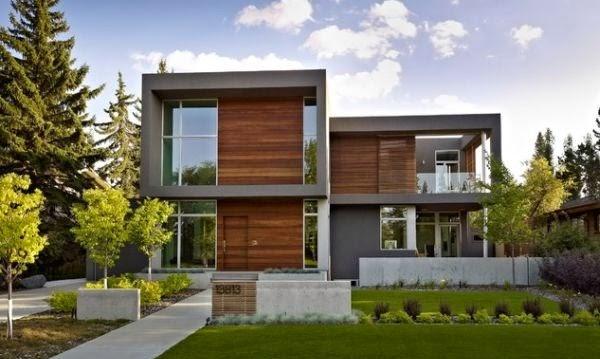 11 fachadas de casas modernas en desnivel fachadas de for Casa minimalista a desnivel
