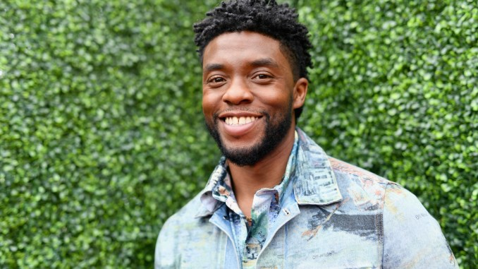 SANTA MONICA, CA - JUNE 16:  Actor Chadwick Boseman attends the 2018 MTV Movie And TV Awards at Barker Hangar on June 16, 2018 in Santa Monica, California.  (Photo by Emma McIntyre/Getty Images for MTV)