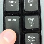 finger on the delete key
